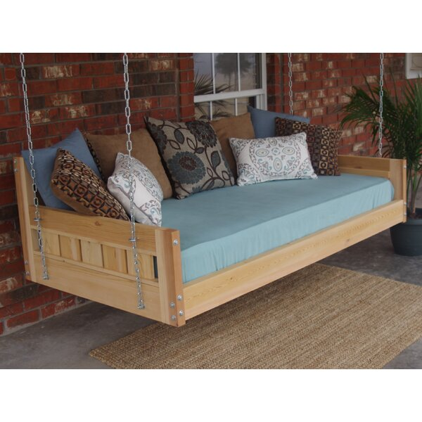 Thacker Cedar Country Style Hanging Daybed Swing by Loon Peak Loon Peak