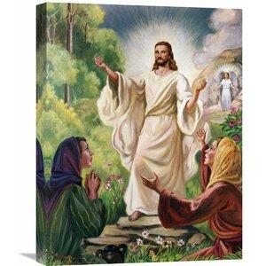 'Jesus Has Risen' Painting Print on Wrapped Canvas by Fleur De Lis Living