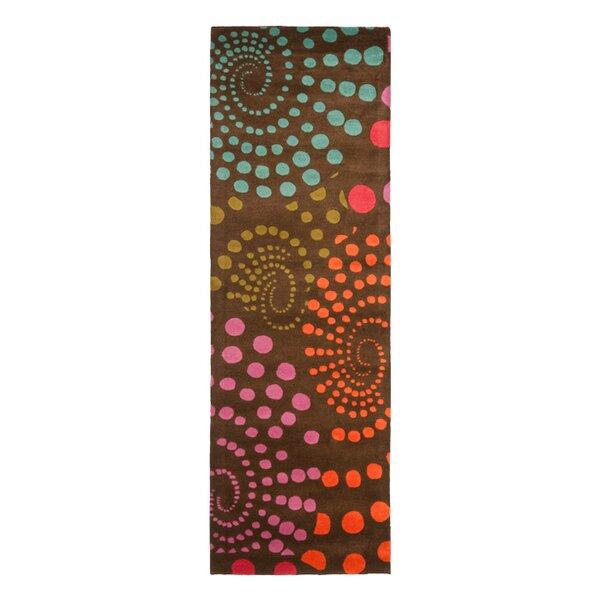 Chiara Hand-Tufted Wool Brown/Orange/Pink Area Rug