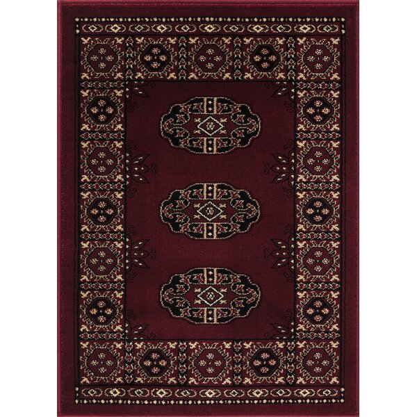 Veliz Superior Quality Bokhara Red/Black Area Rug by Millwood Pines