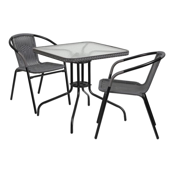 Gingerich 3 Piece Bistro Set by Ebern Designs