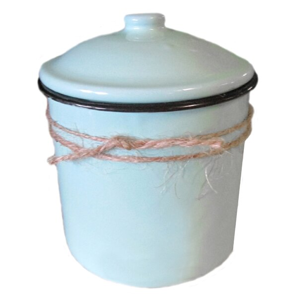 Cinnamon Sticks Enamelware Scented Jar Candle by August Grove