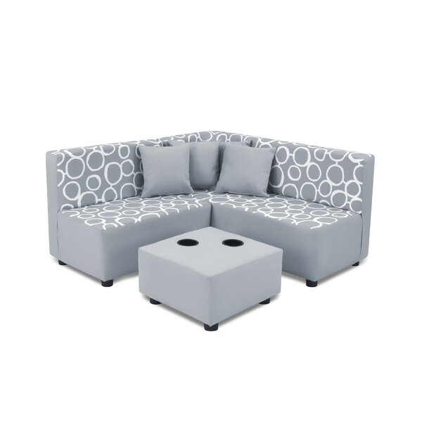 Kangaroo trading company kids cotton sectional and ottoman for Kangaroo outdoor furniture covers