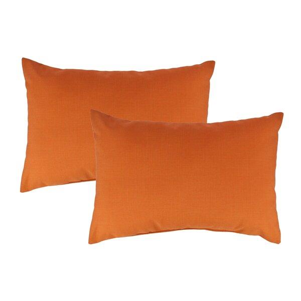 Canvas Outdoor Sunbrella Lumbar Pillow (Set of 2) by Austin Horn Classics