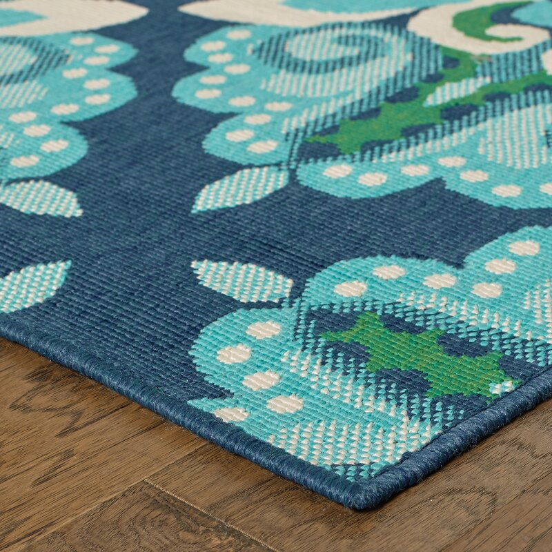 Contemporary Outdoor Area Rugs: Beachcrest Home Kailani Contemporary Blue/Green Indoor