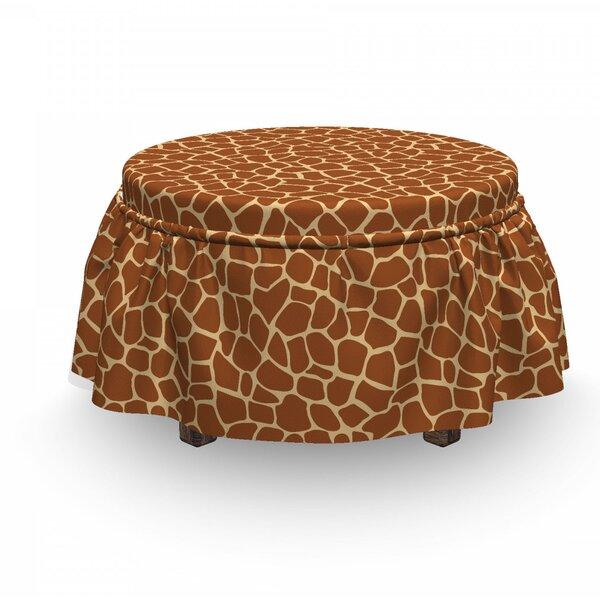 Giraffe Skin Print Ottoman Slipcover (Set Of 2) By East Urban Home