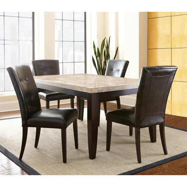 Trever 5 Piece Solid Wood Dining Set by Latitude Run