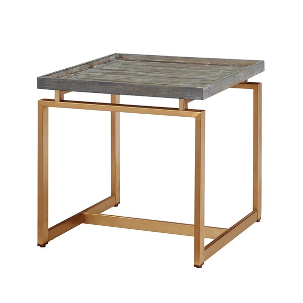 Maddock Tray Top Sled End Table By Everly Quinn