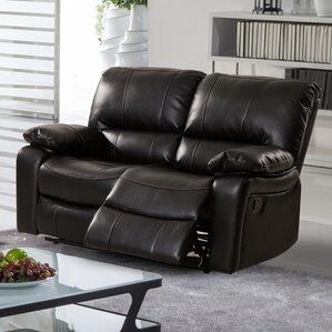 layla breathing reclining loveseat - Black Leather Loveseat