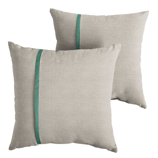 Hocker Indoor/Outdoor Throw Pillow (Set of 2) by Latitude Run