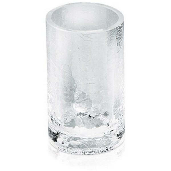Gess Crackled Glass Toothbrush Holder by Highland Dunes