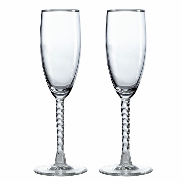 Toasting Glass Champagne Flute (Set of 2) by Lillian Rose