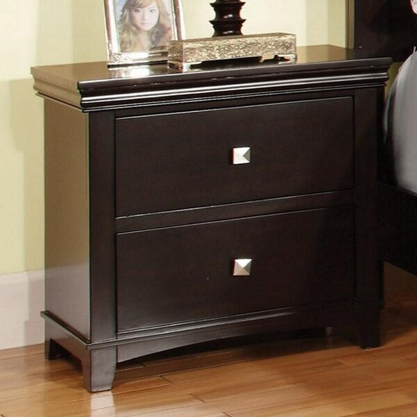 Maser Espresso Finished Night Stand by Charlton Home