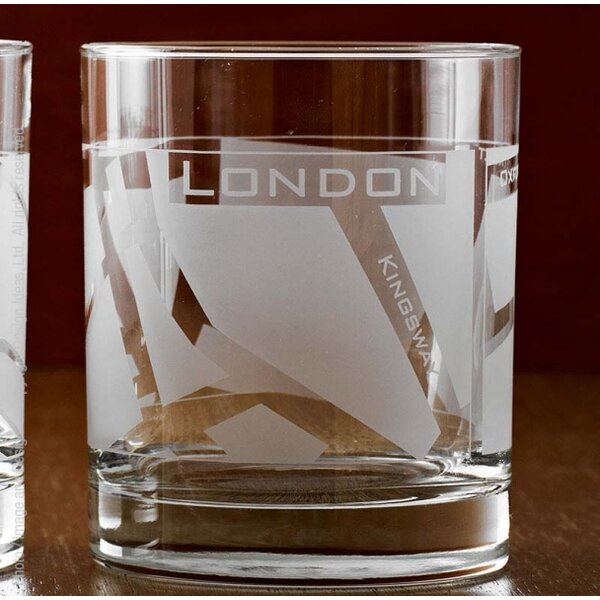 London Well Traveled Tumbler (Set of 4) by Design Ideas