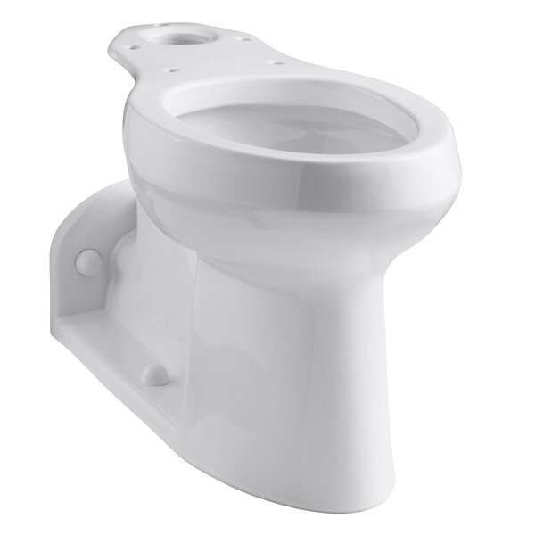 Barrington 1.0 GPF (Water Efficient) Elongated Toilet Bowl (Seat Not Included) by Kohler