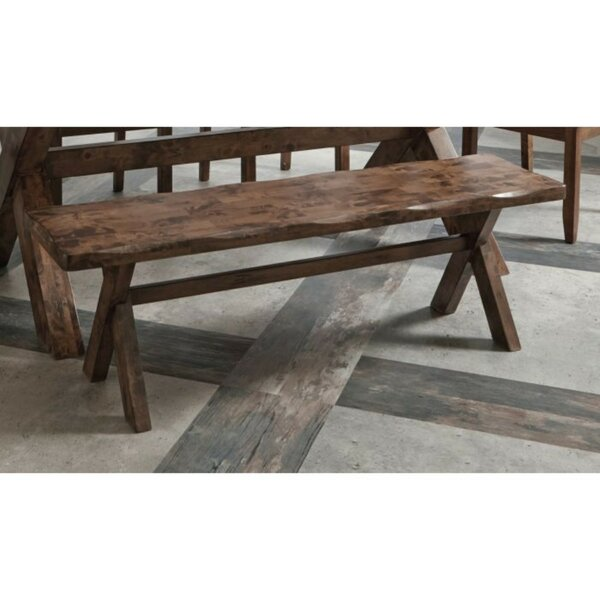 Vanwagoner Dining Wood Bench by Millwood Pines