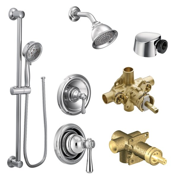 Kingsley Complete Shower System with Rough-in Valve by Moen Moen