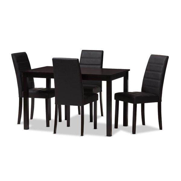 Petrillo 5 Piece Dining Set by Ebern Designs