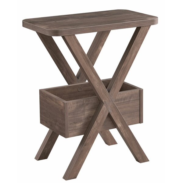 Sorrentino Cross Legs End Table With Storage By Foundry Select