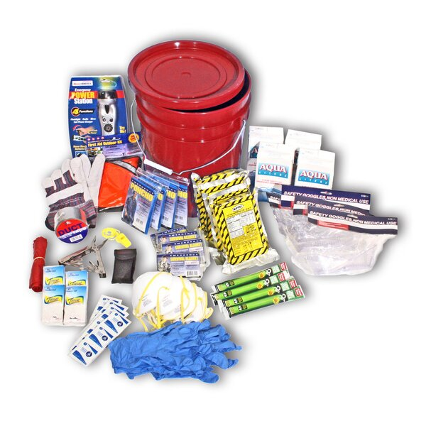 4 Person 3 Day Deluxe Emergency Kit in a Bucket by