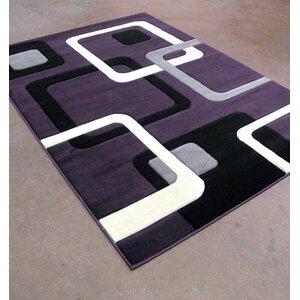 Purple/Black Area Rug