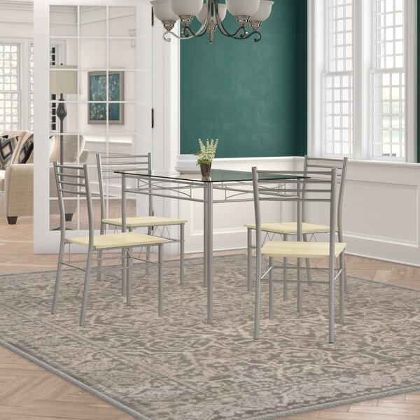 Tavarez 5 Piece Dining Set by Winston Porter