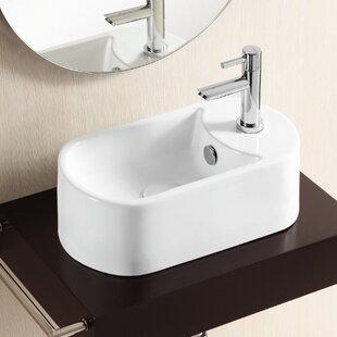 Compare & Buy Ceramica II Ceramic Specialty Vessel Bathroom Sink with Overflow By Caracalla