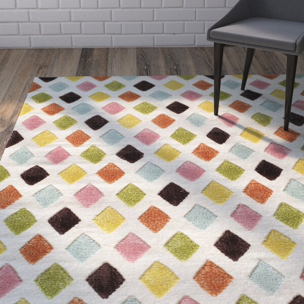 Chesterfield Hand-Woven Green/Beige/Gold Area Rug by Harriet Bee