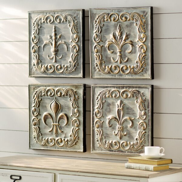 Metal Wall Décor (Set of 4) by Lark Manor
