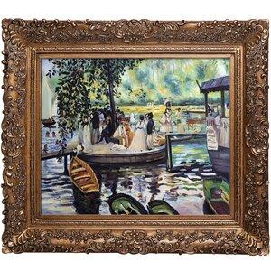 La Grenouillere by Pierre-Auguste Renoir Framed Painting by Tori Home