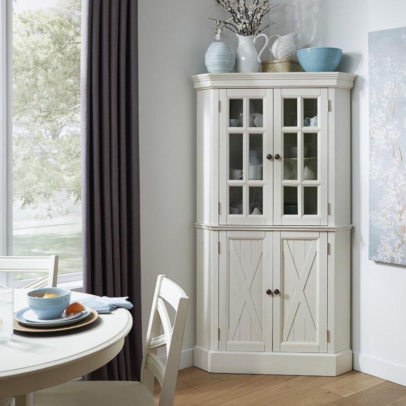 "Moravia 72"" Kitchen Pantry Corner China Cabinet & Reviews ..."