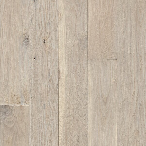 Signature Scrape 5 Solid Oak Hardwood Flooring in Snow Peak by Armstrong Flooring