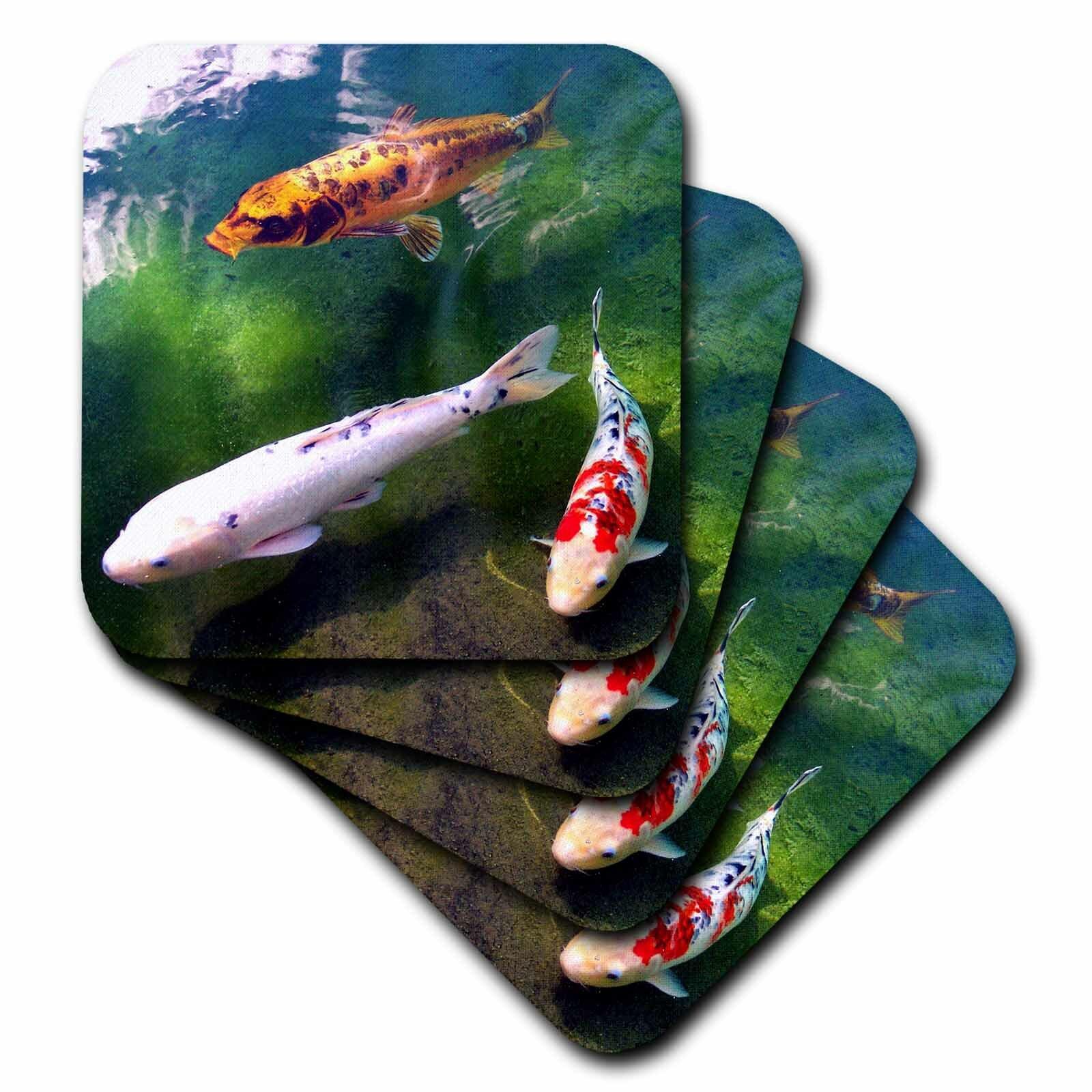 3drose Ceramic Tile Coasters Chinese Koi Carp Fish Set Of 4 Cst 2879 3 Wayfair