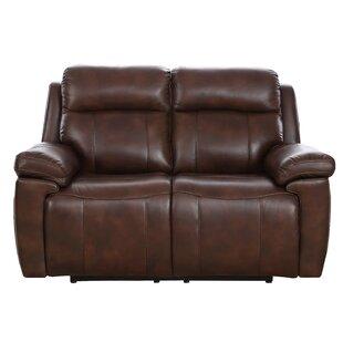 Dakota Power Genuine Leather 2 Seater Reclining Sofa ...