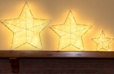 3 D Star with LED Light by Hi-Line Gift Ltd.