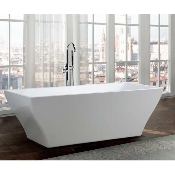 Messina 71 x 32 Freestanding Soaking Bathtub by Bellaterra Home