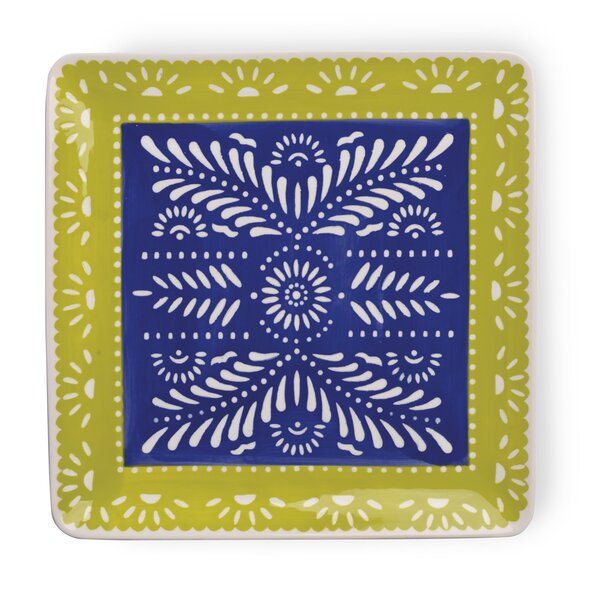 Viva La Fiesta Square Platter by Boston International