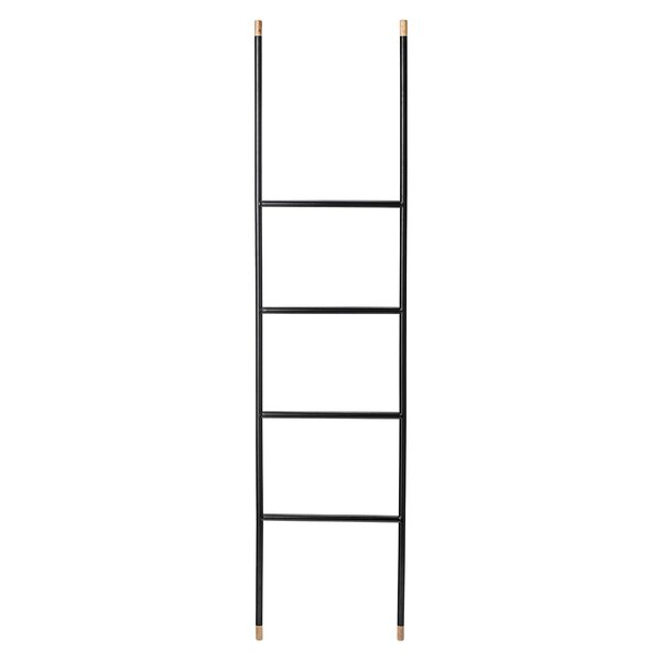 Wood and Metal 5.5 ft Decorative Ladder by Langley Street