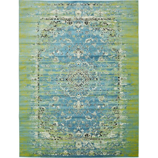 Neuilly Blue/Green Area Rug by Mistana