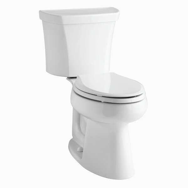 Highline Comfort Height Two-Piece Elongated 1.6 GPF Toilet with Class Five Flush Technology, Right-Hand Trip Lever and Tank Cover Locks by Kohler