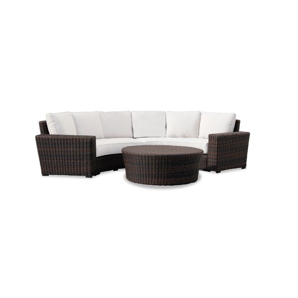Montecito Patio Sofa with Sunbrella Cushions by Sunset West