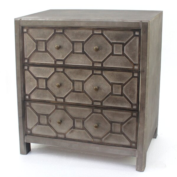 Lought 3 Drawer Accent Chest by Winston Porter