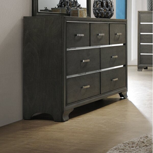 Hunedoara 7 Drawer Double Dresser by Ivy Bronx