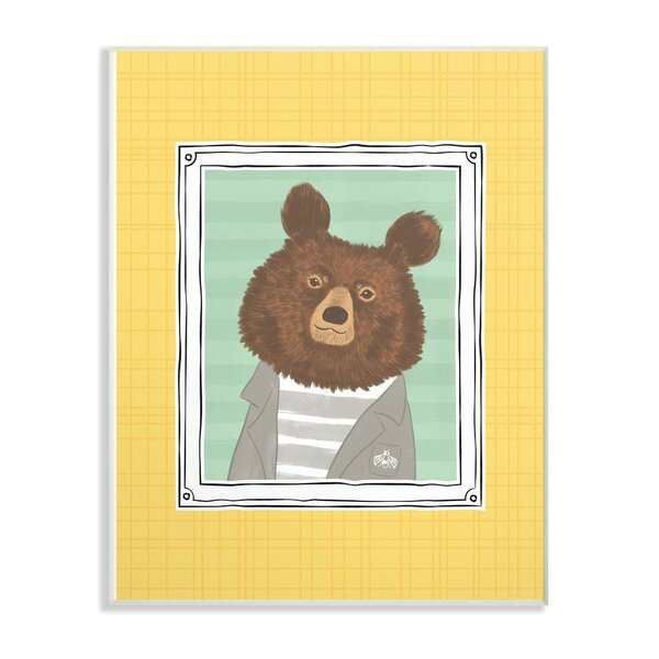 Farrer Bear Portrait Decorative Plaque by Harriet Bee