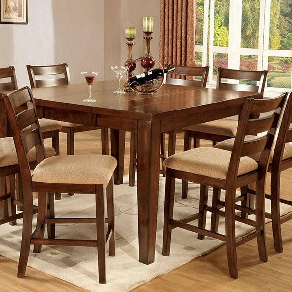 Dell 9 Piece Counter Height Drop Leaf Dining Set by Darby Home Co