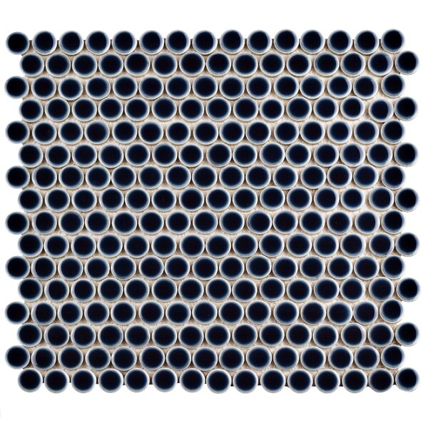 Penny 0.8 x 0.8 Porcelain Mosaic Tile in Noir by EliteTile
