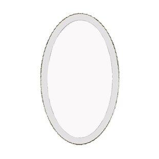 House of Hampton Toshiro Crystal and Steel Wall Mirror