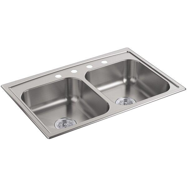 Toccata 33 L x 22 W x 6 Top-Mount Double-Equal Bowl Kitchen Sink by Kohler