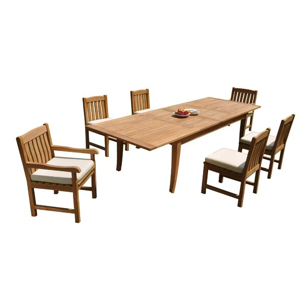 Donte 7 Piece Teak Dining Set by Rosecliff Heights