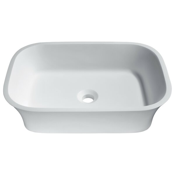 Ajeet Stone Rectangular Vessel Bathroom Sink by ANZZI